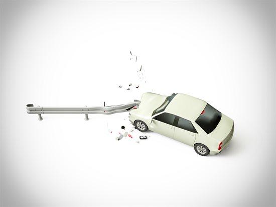 ガードレールでの事故
